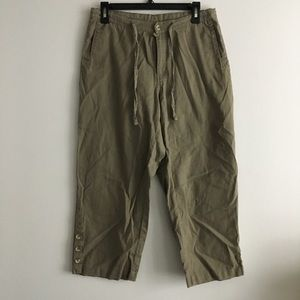 Columbia linen ankle pants